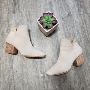 Aldo * Genuine Suede Ankle Booties Sz 7 Sand